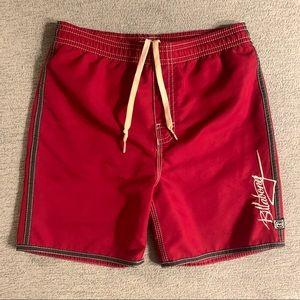 Billabong boys red swim trunks shorts